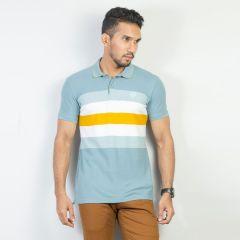 Polo:Short Sleeve Semi Fit  Stripe_117#7