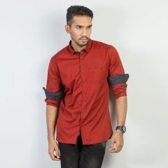 Shirt:Full Sleeve Trendy Fit  Solid_367#1