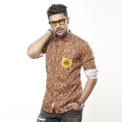 Shirt:Casual F/S Trendy Fit Print_338#1