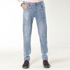 Pants:Jeans Semi Fit Solid_320#1