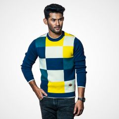 Sweater:Full Sleeve Check_114#3