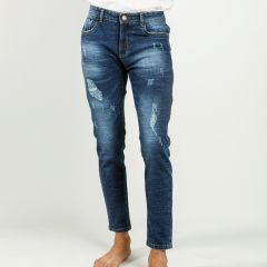 Pants:Jeans Semi Fit Solid_329#1