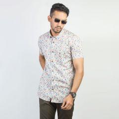 Shirt:Short Sleeve Trendy Fit  Print_166#4