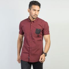 Shirt:Short Sleeve Trendy Fit  Check_168#2