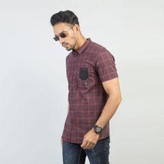 Shirt:Short Sleeve Trendy Fit  Check_168#3