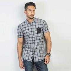 Shirt:Short Sleeve Trendy Fit  Check_168#4