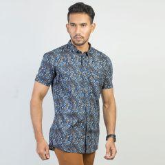 Shirt:Short Sleeve Trendy Fit  Print_166#3