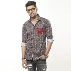 Shirt:Casual F/S Trendy Fit Print_338#4