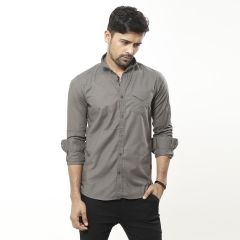 Shirt:Casual F/S Trendy Fit Solid_333#4