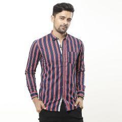 Shirt:Casual F/S Trendy Fit Stripe_334#2