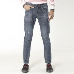 Pants:Jeans Semi Fit Solid_318#1